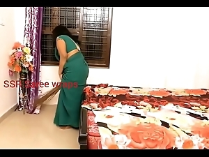 Indian lackey forced copulation in sexy saree