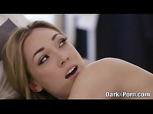 Heavy black load of shit copulates a marketable blonde Lily Labeau