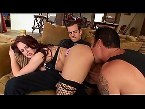 Juvenile whore wife in underclothing Cheyenne Jewel makes her cuckold scrimp watch her get screwed