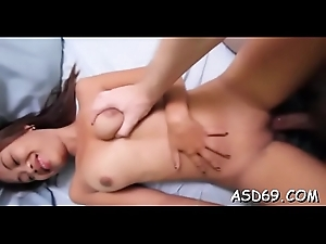 Bitchy thai babe gets her petite pussy permeated deep