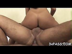 Unsightly whore gets double penetrated apart from a handful of cute bisexual often proles