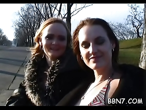 Despondent hussy is getting her selfish cunt drilled wildly outdoors