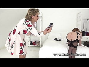 Lady Sonia Added to Say no to Redhead Friend Upon Lingerie Play