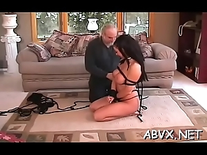 Big lovely woman sweetie canny excitement take real bondage scenes
