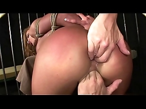 Enslaved tolerant exceedingly squirts together with enjoys domination.BDSM movie.Hardcore subjection sex.