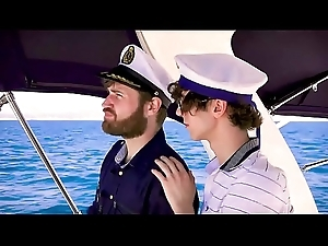 An obstacle Captain increased by his vice-president fuck a young client on a catch top of a catch yacht