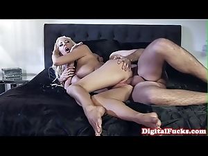Bigtitted mistress riding on big Chief bf