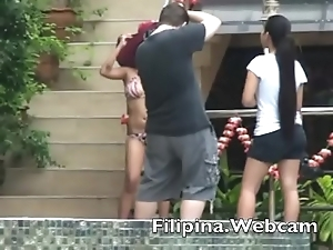 Filipina.webcam livecam beauties sexy bikini pool line competition in make an issue of Philippines