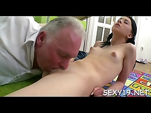 Innocent darling is seduced wide of an old and lewd teacher