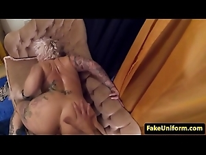 Inked UK milf doggystyled wits cops bushwa