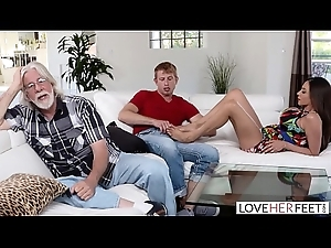 LoveHerFeet - Stepmom Wants My Cum Out of reach of Her Feet